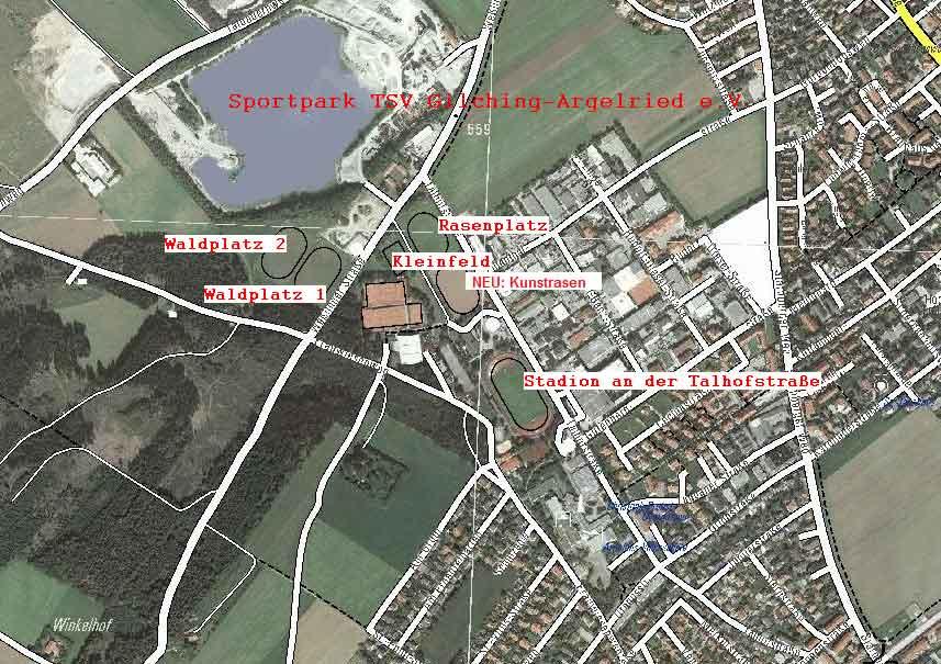 Lageplan Sportpark Sportpark TSV Gilching-Argelsried Talhofstraße 13